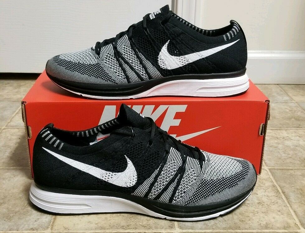 c08b6dded884 Details about Nike Flyknit Trainer Oreo Racer Men s Sz 13 NEW AH8396-005 QS  Air Free