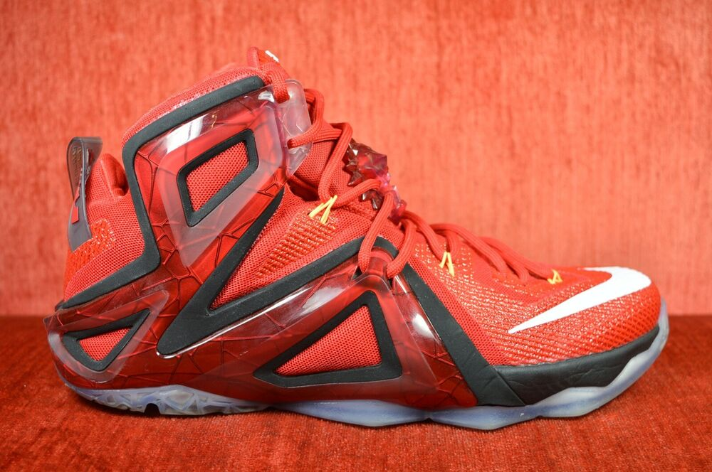 4959680e6e9 Details about CLEAN Nike Lebron XII 12 Elite Team University Red Size 10  724559-618