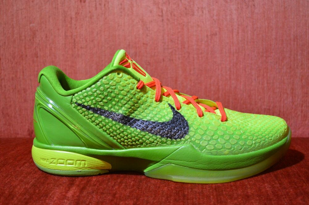 low priced d3bbd 7ba47 Details about WORN TWICE Nike Kobe System 6 VI Grinch Rare Bryant Size 10.5  429659 701 Green