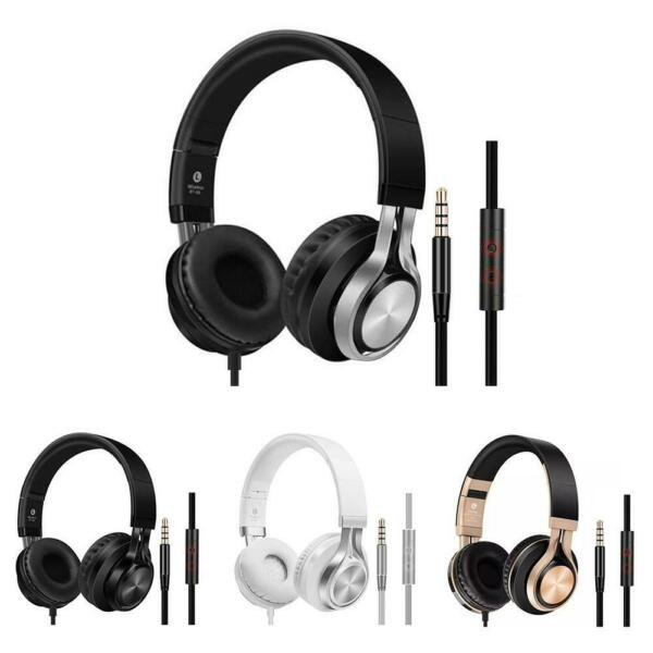 K2 Portable Wired Headphones Over-Ear Headset Super Bass Earphone with Mic