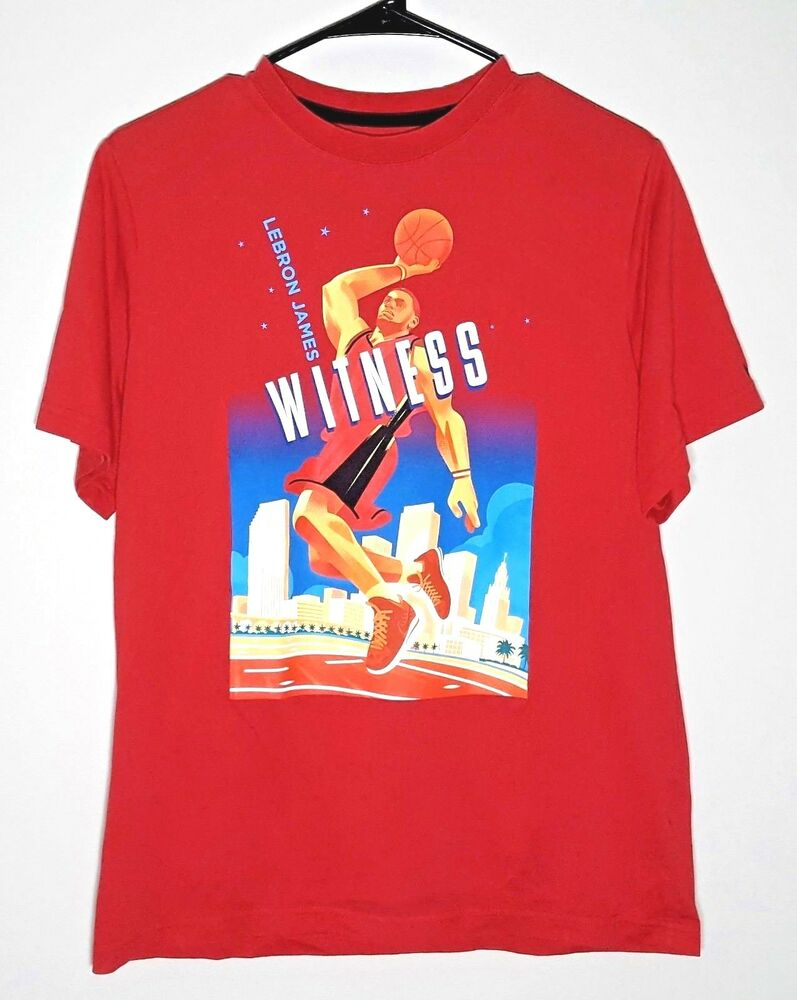 d8f38ce1f347 Details about Lebron James Youth T-Shirt by NIKE | Witness NBA Lakers  Basketball | Boys XL