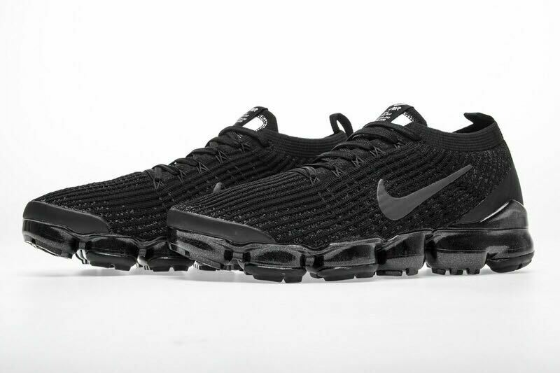 e46cfe96fbee Details about NIKE AIR VaporMax Flyknit 3 2019 MEN (Black) Running Trainers  Shoes