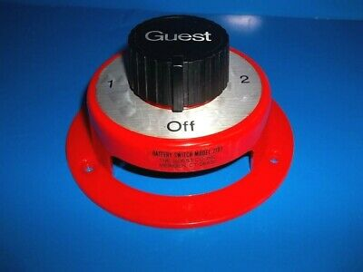 Guest Marine 2101 Dual Battery Switch Selector, Both,1,2,Off Round 5.5