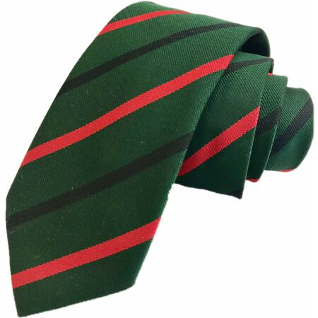 img-Royal Green Jackets Regimental Woven Striped Tie Regiment Made In GB