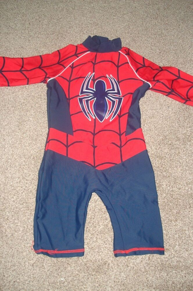 a6d5492e96 Spiderman UPF 40 + Sunsafe-Suit-Swim Sunsuit 12-18 months | eBay