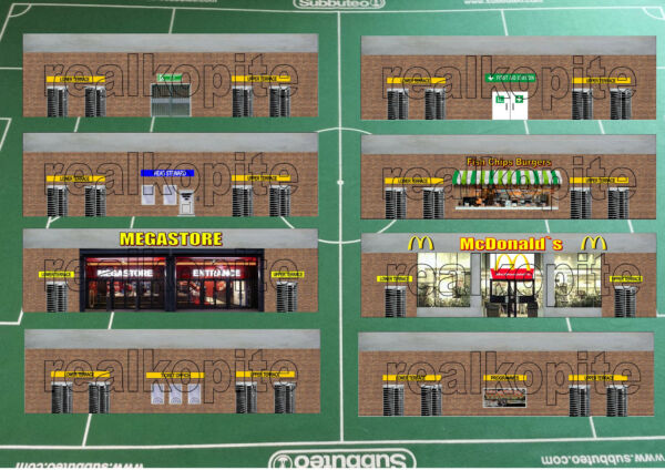Backboards for Subbuteo Terrace Section (C.142/61142)
