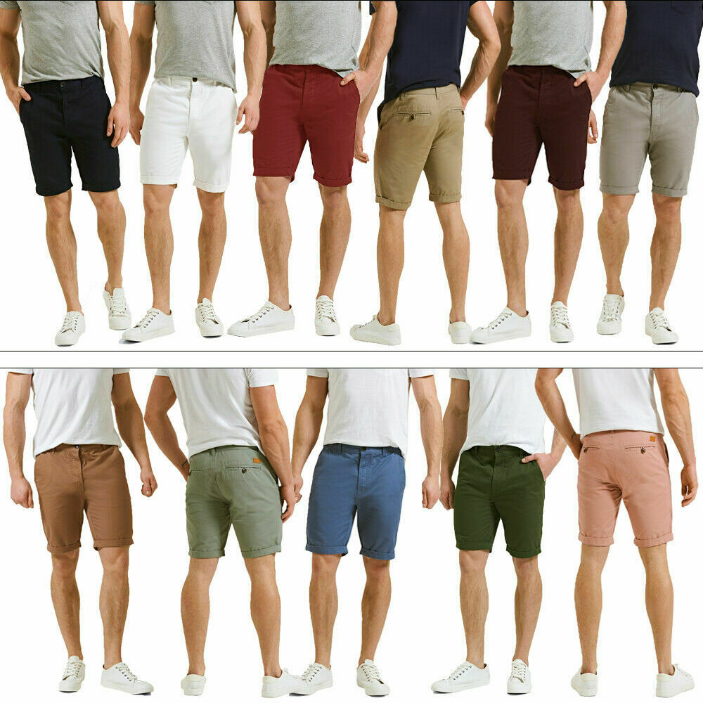 27eb0be6a55 Details about Threadbare Mens Basic Chino Designer Casual Turn Up Hem New  Summer Cotton Shorts