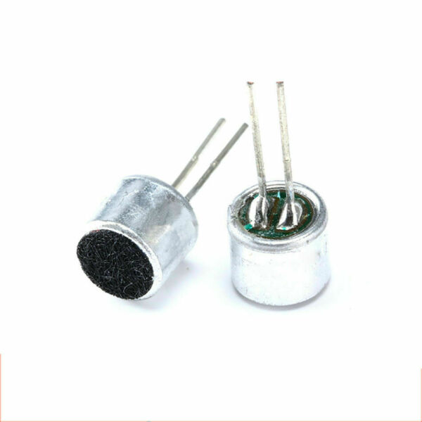 2x Micro MIC 6x5mm 2 pin SMD Audio microphone electret Electronique DIY