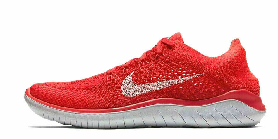 finest selection aed6f 1e1a4 Men's Nike Free RN Run Flyknit 2018 Running Shoes University Red 14 942838  601 | eBay