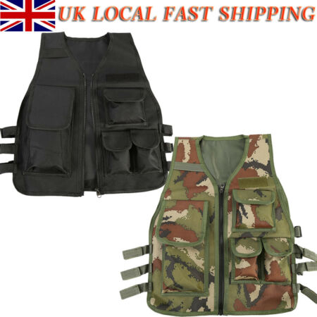 img-NEW Kids Tactical Vest CS Game Airsoft Molle Plate Carrier Body Armor Vest Nylon