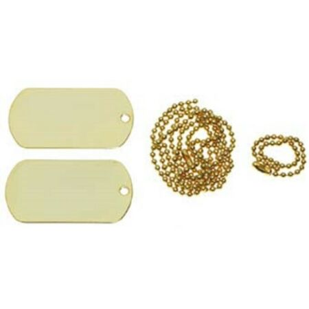 img-US Dog Tag Chains Golden Dog Tag Dog Tag Brand Pendant Mfh New