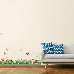 Butterfly and Flower Pattern Wall Sticker Removable Art Decal for Living Room