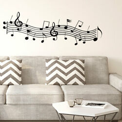 Musical Note Pattern Wall Sticker Removable Art Decal for Living Room Bedroom