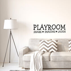 Play Room Self-stick Wall Stickers Artificial Decal for Bedroom