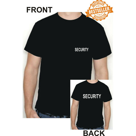 img-SECURITY T-Shirt / Front + Back Print / WORK / BUSINESS / SHOP / PPE / Size L