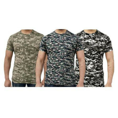 img-NEW GAME DIGITAL CAMO 200gsm COTTON/POLYESTER CAMOUFLAGE T-SHIRT S to 2XL, ek