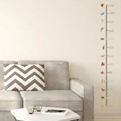 170cm Colorful Fish Pattern Height Chart Wall Stickers Artificial Decal Growing