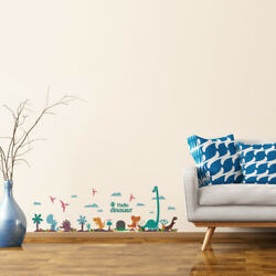 Dinosaur Pattern Wall Stickers Self-stick Artificial Decal for Theme Party