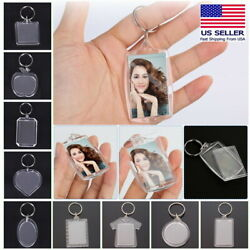 Kyпить Transparent Blank Acrylic Insert Photo Picture Frame Custom Shape Keychain на еВаy.соm