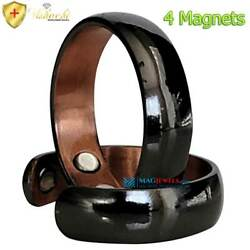 PREMIUM 4 MAG DOMED PURE SOLID COPPER MAGNETIC RING ADJUSTABLE SIZE 6-9 CBB01