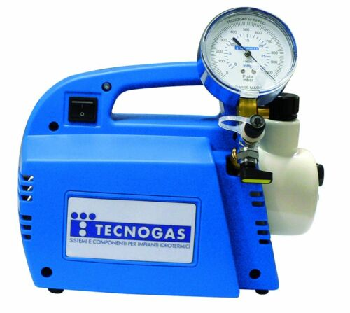 11420 Tecnogas Pump for Empty Air Conditioners with Vacuometer