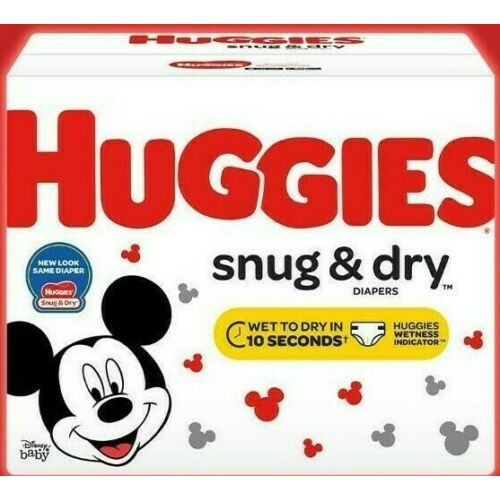 Huggies Snug & Dry Disposable Diapers Size Newborn, 1, 2, 3, 4, 5 *Fast Ship