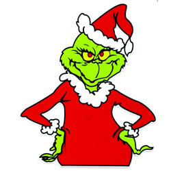 Grinch that Stole Christmas sticker Tags Decal free shipping Holiday Christmas!!