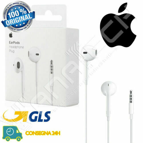 CUFFIE AURICOLARI EARPODS ORIGINALI APPLE IPHONE 5 5S 6 6s IPOD MD827ZM/A NUOVO