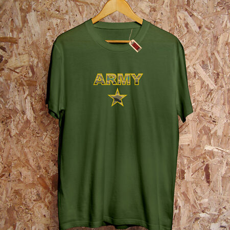 img-Army Star Camo T-Shirt Text PREMIUM War RAF Patriarchy U.S UK Forces Military 9A