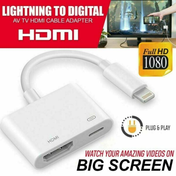 Un fulmine a HDMI Adattatore Tv Digitale AV cavo per Apple iPad iPhone XS XR 6 7