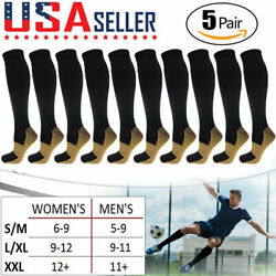 Kyпить 5 Pairs Copper Compression Socks 20-30mmHg Graduated Support Mens Womens S/M-XXL на еВаy.соm