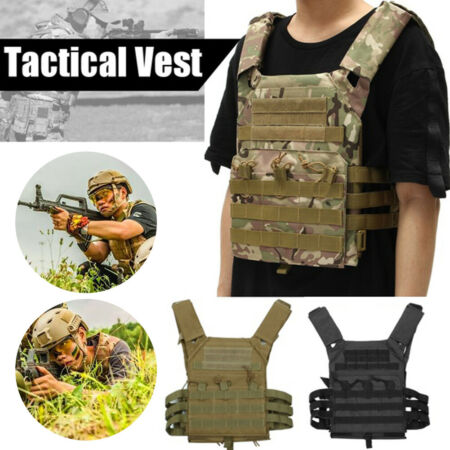 img-Military Tactical Vest CS Paintball Airsoft Hunting Molle Mag Assault Pouches m