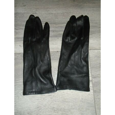 img-RAF OR ARMY WOMENS BLACK UNLINED LEATHER SERVICE GLOVES VARIOUS SIZES