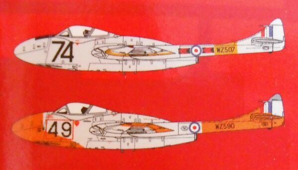 ++++ DeHAVILLAND VAMPIRE T11 + 1:72 KIT by AIRFIX +++