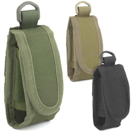 img-Bulldog Folding Knife Tool Multi-Tool Torch Belt MOLLE Vertical Pouch Holder