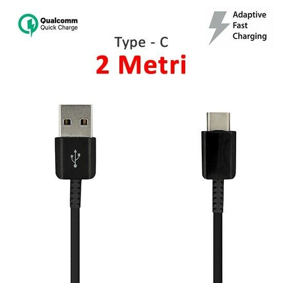CAVO USB TYPE-C 2 METRI CARICA BATTERIE FAST QUICK CHARGER SAMSUNG XIAOMI HUAWEI