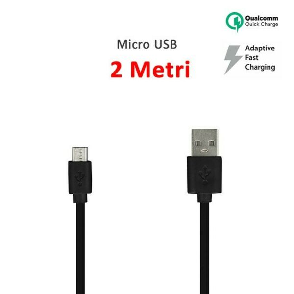 CAVO MICRO USB 2 CARICA BATTERIE METRI FAST QUICK CHARGER SAMSUNG XIAOMI HUAWEI