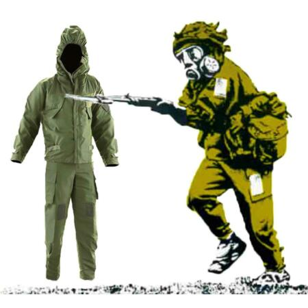 img-Mk4 NBC CBRN Nuclear Biological Chemical Suit, Gloves and Overboots Olive Green