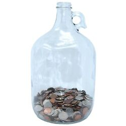 Skywin Swear Jar - Large Glass Money Jar and Adult Piggy Bank for Storing Coi...