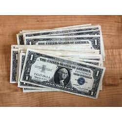 Kyпить 1935 or 1957 One Dollar Blue Seal Note Silver Certificate Old US Bill $1 Money на еВаy.соm