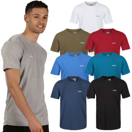 img-Regatta Mens Tait Coolweave Cotton Soft Touch T Shirt