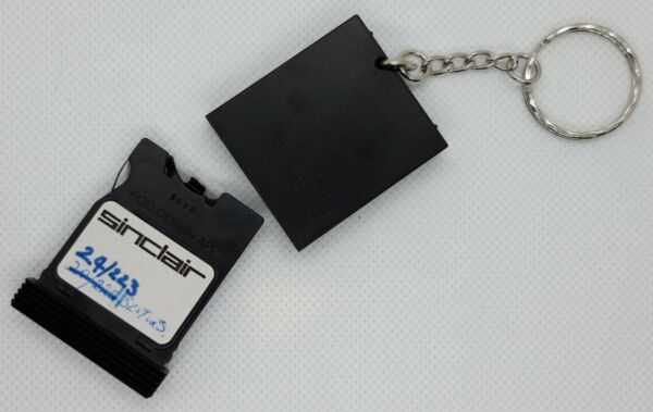 Sinclair ZX Spectrum / QL Microdrive Cartridge Schlüsselanhänger, Upcycled, KEY5