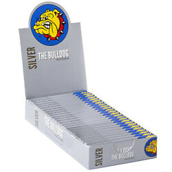 THE BULLDOG Amsterdam Silver Rolling Papers Booklets 69 x 37mm *Full Box