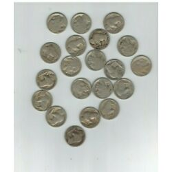 Kyпить VINTAGE United States Coin Lot Of 20 Buffalo Nickels 1910s-30s junk drawer find на еВаy.соm