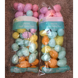 Kyпить 96 Bulk Plastic Easter Basket Eggs Multi color pastel Fillable empty lot filler на еВаy.соm