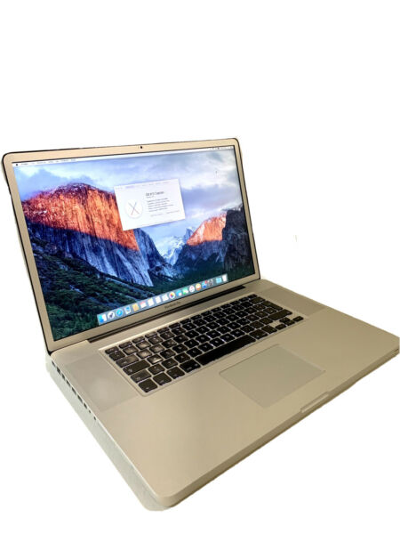 Pc Portatile Notebook Apple Macbook Pro 17 2009 C2D 8GB Ram 256gb Ssd