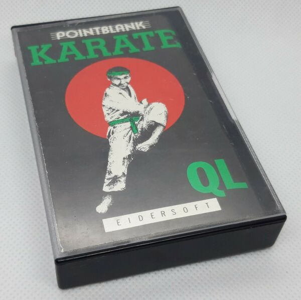 Sinclair QL Spiel Karate in OVP, Microdrive, Pointblank/Eidersoft. Aus 1986.