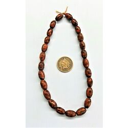 Glass Native Mescal Bean Beads African Trade  Trading Post { 50 } Pc    Bin S
