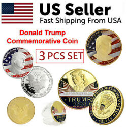 Kyпить Donald Trump 2020 Challenge Keep America Great Commemorative Coin Eagle 3 PCS на еВаy.соm
