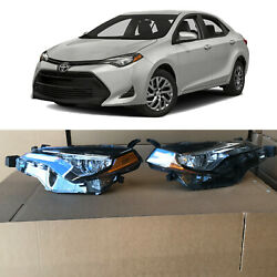 Kyпить Front Headlight Headlamp Assembly Pair for 2017 2019 Toyota Corolla L LE XLE CE на еВаy.соm